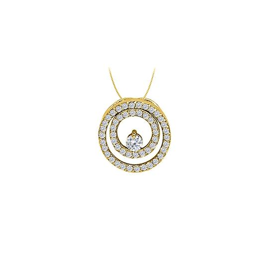 Preload https://img-static.tradesy.com/item/23357436/white-yellow-cz-double-circle-pendant-gold-vermeilsilver-050-ct-tgwjewelry-gift-necklace-0-0-540-540.jpg