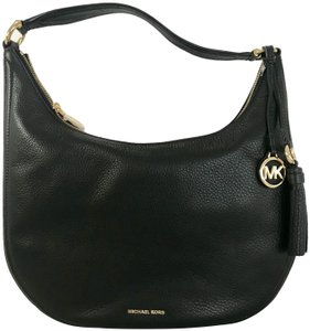 f8f93e7aecae MICHAEL Michael Kors Lydia Large Hobo Black Leather Shoulder Bag ...