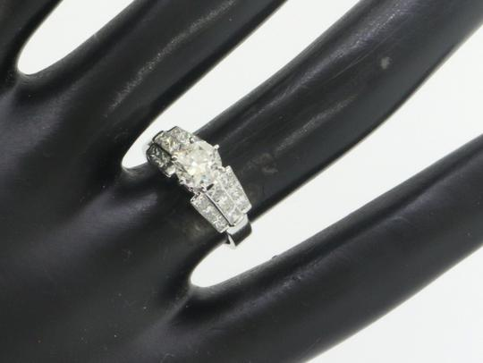 EGL USA 18k gold 2.09ct diamond wedding engagement ring size 6.25 with 1.01ct