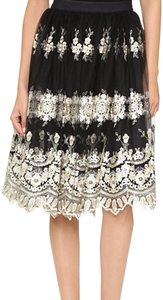 Alice + Olivia Skirt black/gold