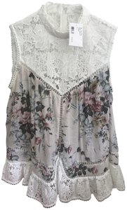 ZIMMERMANN Intermix Lace Top White