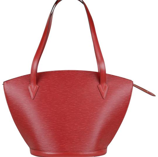 Preload https://img-static.tradesy.com/item/23357801/louis-vuitton-saint-jacques-poignees-longues-45x30x17cm-red-leather-shoulder-bag-0-1-540-540.jpg
