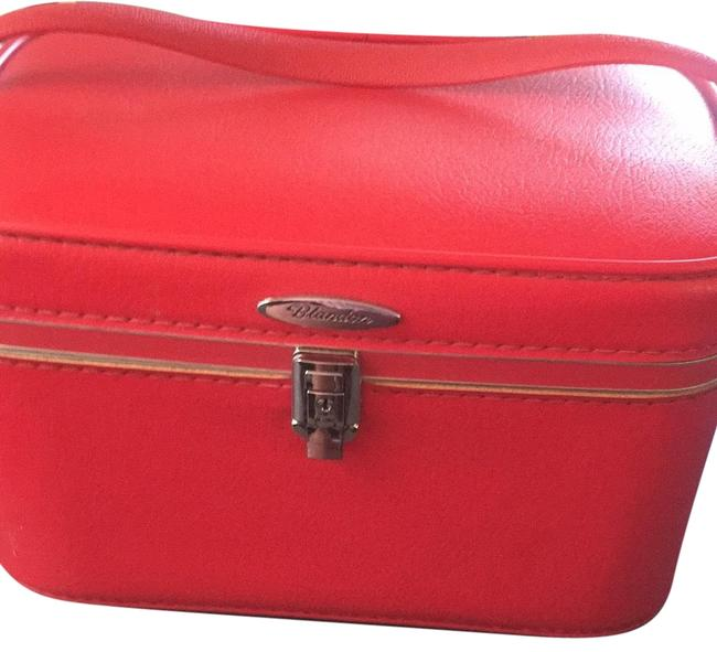 Item - Red Blandon 1960's Overnight Train Case - Like New Cosmetic Bag