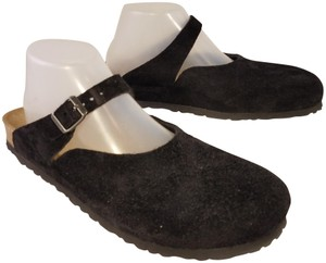 Birkenstock Germany Made Trippen Cydwoq Black suede Mules
