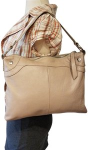 Hobo International Shoulder Glazed Leather Whipstiching Boho Chic Hobo Bag