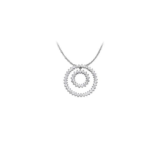 Preload https://img-static.tradesy.com/item/23358103/white-silver-fab-gift-cubic-zirconia-double-circle-pendant-in-sterling-with-necklace-0-0-540-540.jpg