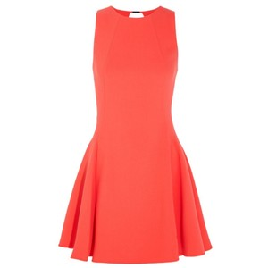 Halston short dress Bright Orange on Tradesy