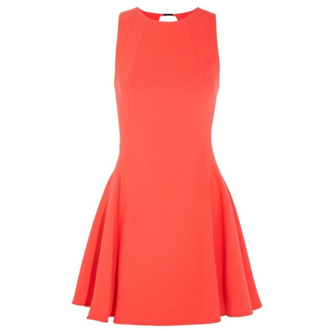 Item - Bright Orange Cutout Stretch Crepe Mini Dvf Theory Milly Heritage Short Casual Dress Size 6 (S)