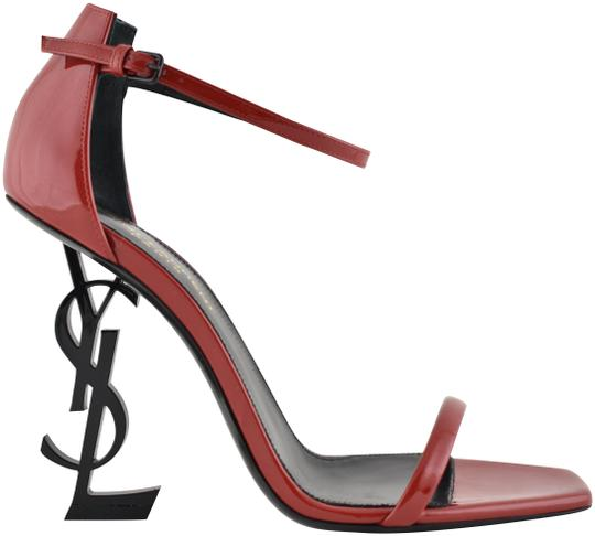 ysl sandals red