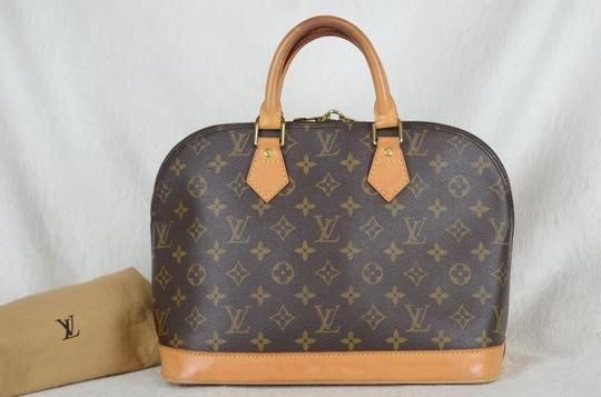 Louis Vuitton Alma Monogram Canvas Tote in Brown