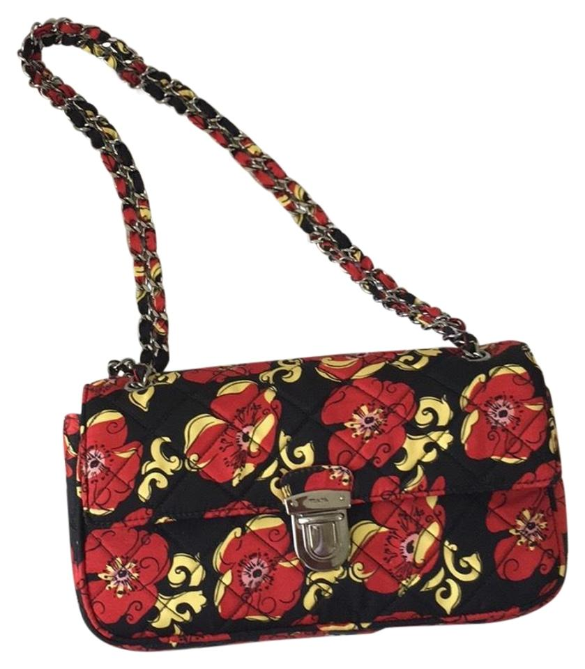 79993a0860c2 Prada Pattina Double Flap Faille Sottospalla Red   Black   Yellow ...