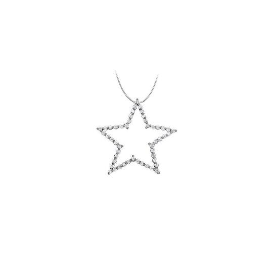 Preload https://img-static.tradesy.com/item/23358445/white-silver-cubic-zirconia-star-pendant-in-sterling-100-ct-tgwperfect-jewe-necklace-0-0-540-540.jpg