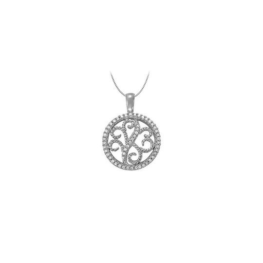 Preload https://img-static.tradesy.com/item/23358449/white-silver-025-carat-total-cubic-zirconia-in-sterling-floral-circle-fashi-necklace-0-1-540-540.jpg