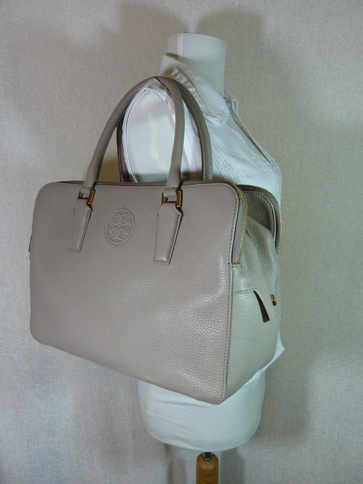 Tory Satchel Gray Triple Burch French Marion Leather qx7vqTYr