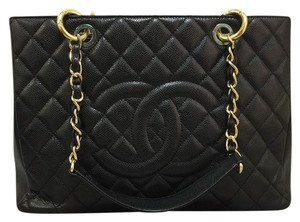 Chanel Caviar Grand Shopping Gst Shoulder Bag