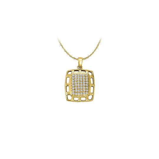 Preload https://img-static.tradesy.com/item/23358717/white-yellow-cubic-zirconia-fancy-square-fashion-pendant-gold-vermeil-gift-necklace-0-0-540-540.jpg