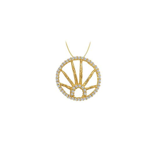 Preload https://img-static.tradesy.com/item/23358726/white-yellow-cubic-zirconia-circle-fashion-pendant-in-gold-vermeilsilver-025-ct-tg-necklace-0-0-540-540.jpg