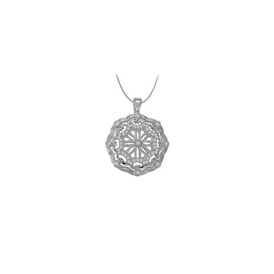 Preload https://img-static.tradesy.com/item/23358744/white-silver-cubic-zirconia-fancy-circle-fashion-pendant-in-sterling-025-ct-necklace-0-0-540-540.jpg