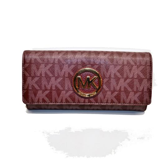 Michael Kors Fulton Flap Continental Signature Wallet Clutch