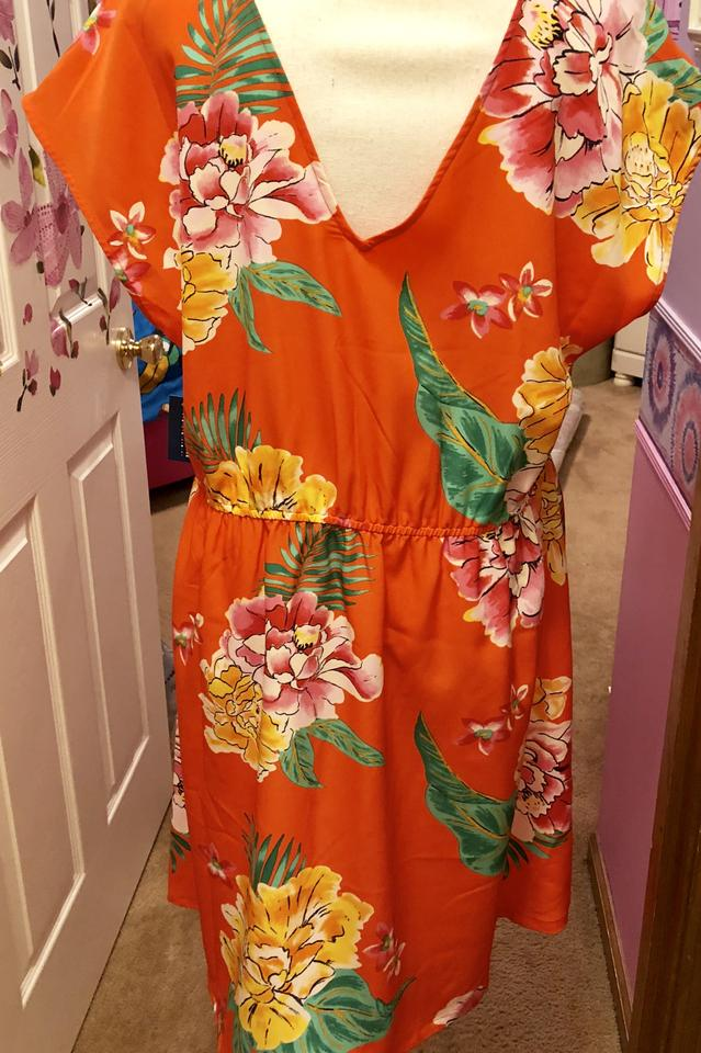 3353743bf76 NWT-NWT-NWT--Vibrant Orange-Red Maxi Dress by Old Navy. 123456789101112