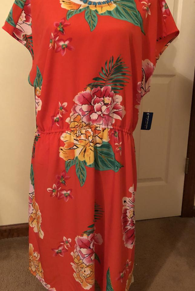 Old Navy Nwt-nwt-nwt--vibrant Orange-red Summertime Mid-length Casual Maxi  Dress Size 16 (XL, Plus 0x)