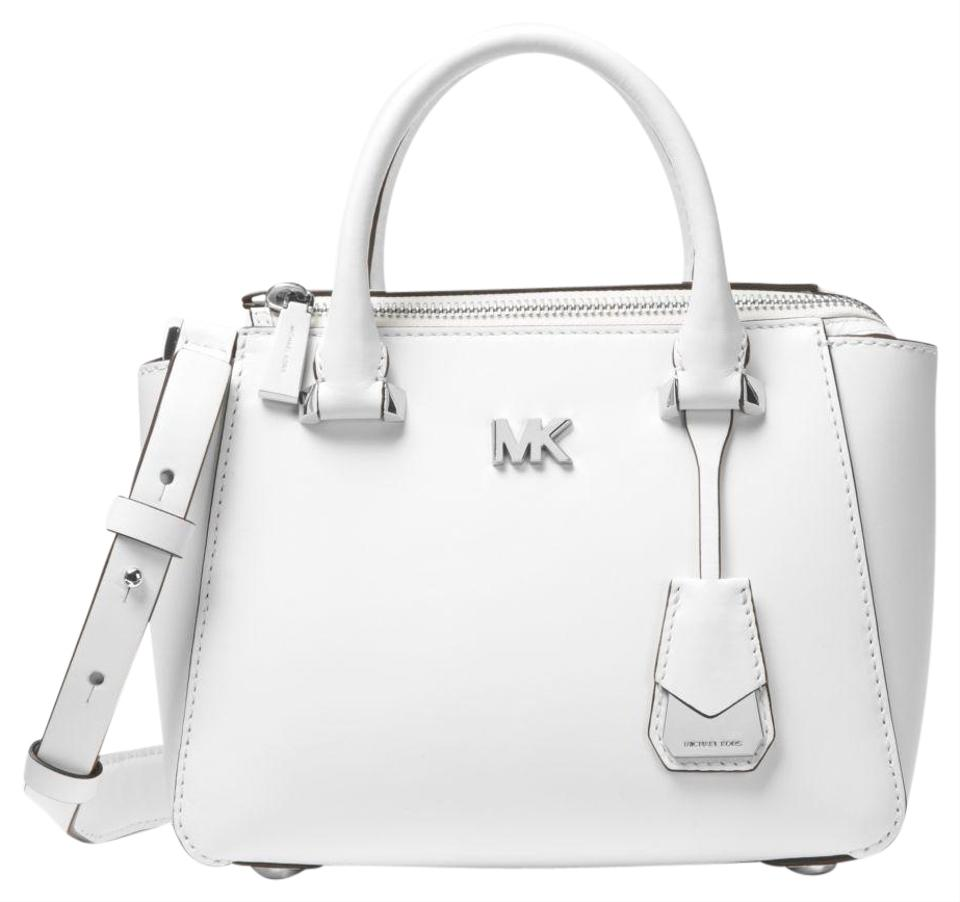 04363e06da9483 Michael Kors Nolita Mini Optic White Leather Cross Body Bag - Tradesy