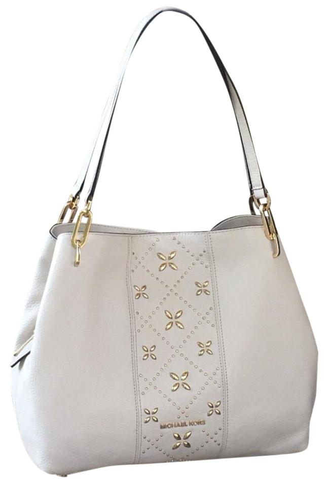 3da12813a92e Michael Kors Tote Leighton White Leather Shoulder Bag - Tradesy