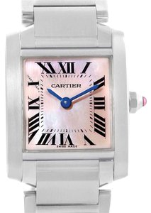 4c7c327bd7d Cartier Cartier Tank Francaise Small Mother of Pearl Steel Watch W51028Q3