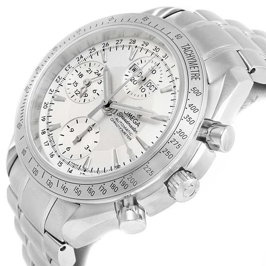 Omega Omega Speedmaster Day Date Chrono Silver Dial Watch 3221.30.00 Card