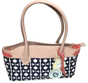 Spartina 449 Satchel In Navy C And Camel