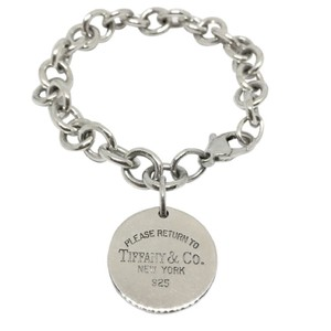 "Tiffany & Co. BEAUTIFUL!! Tiffany & Co. Return to Tiffany Circle Tag Bracelet Sterling Silver 7"" 100% Authentic Guaranteed!!"