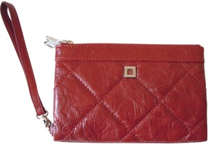 Lodis Abbot Kinney Bettie clutch quilted crinkle leather cranberry