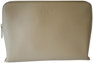 Coach Large Saffiano Leather Cosmetic Case Bag Pouch 49748