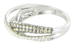 LeVian Double Crossover White Pave Chocolate Diamond 1.11cts Ring 14K WG