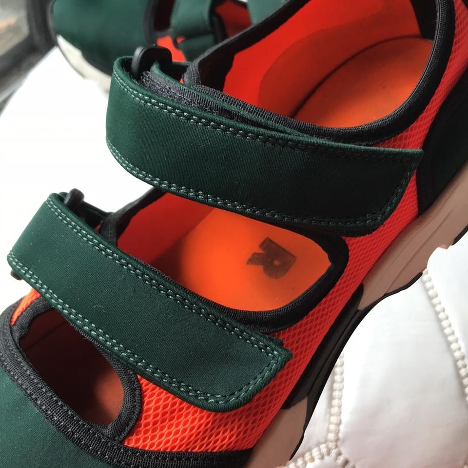Sneakers Marni Green and Orange Dark 48qIH
