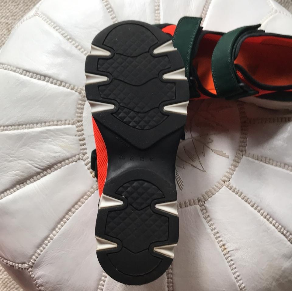 Sneakers Marni Green and Dark Orange Zw7fIw