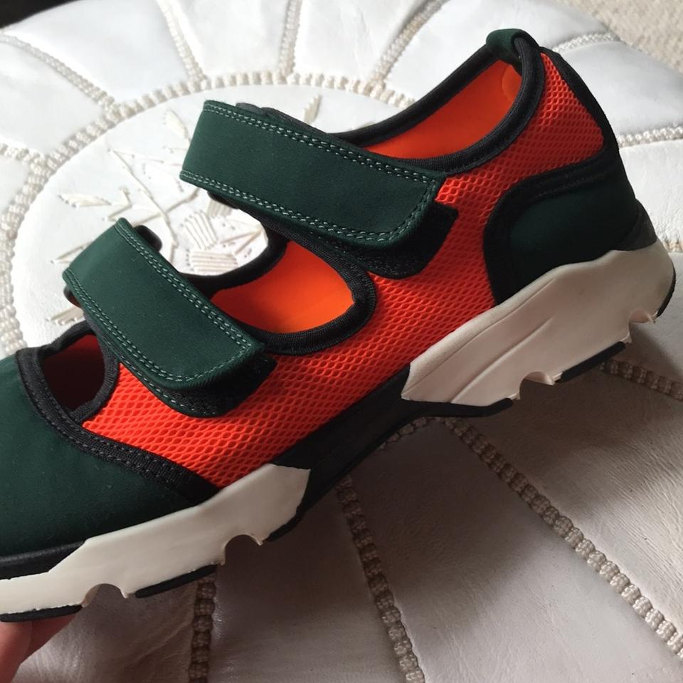Sneakers Marni Green Orange Dark and 4AXZ4