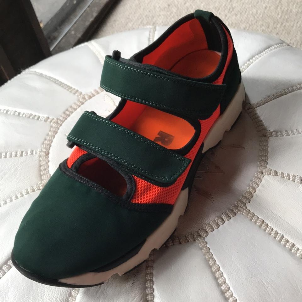 Marni Green Orange and Dark Sneakers 44qFAwfZ