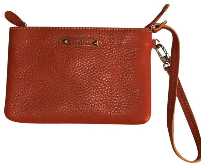 Cole Haan Burnt Orange Pebbled Leather Wristlet Wallet Cole Haan Burnt Orange Pebbled Leather Wristlet Wallet Image 1