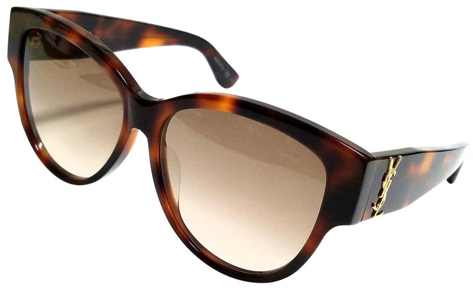 d9abfb9e387 Saint Laurent Havana Brown Sl M3/F 005 Havana/Brown Lens 57mm New Sunglasses