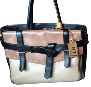 Reed Krakoff Satchel in Black /tan/off white