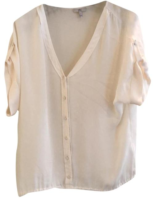 Item - White Button-down Top Size 6 (S)
