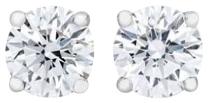 OTHER 0.25Ct Round Cut Diamond Stud In 14k White Gold (J-K Color, I2 Clarity) 0.25carat