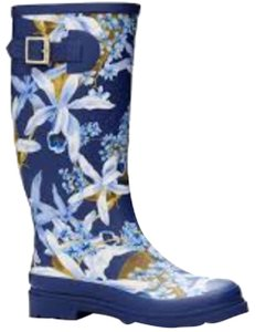 Tommy Bahama Rainboot Blue Floral Wellingtons Multi Boots