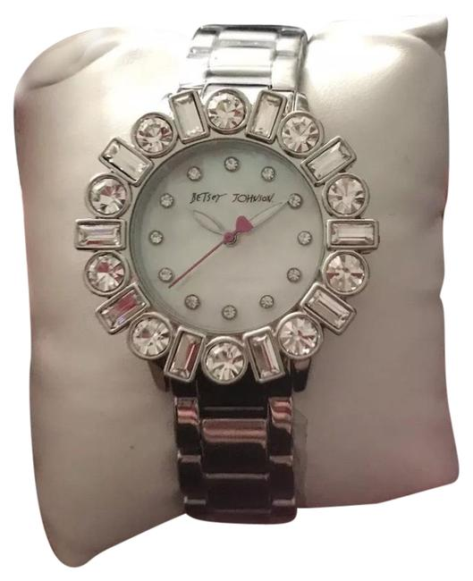 Item - Silver New Baguette Crystals Stainless Ladies Bj00612-01 Watch