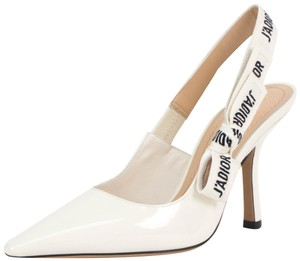 Dior Slingback Leather White Pumps
