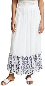 MISA Los Angeles Maxi Skirt White/Blue