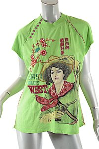 Double D Ranchwear T Shirt Green Multi Color