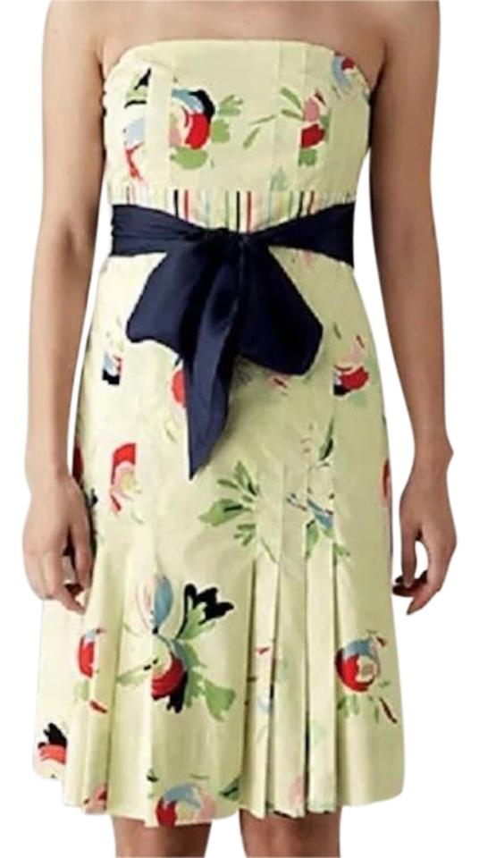 f703d78f5f01d5 Anthropologie short dress Pale Yellow Multi Stripe Floral Strapless on  Tradesy Image 0 ...