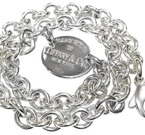 "Tiffany & Co. Tiffany & Co. ""Return to Tiffany"" Oval Tag Necklace"